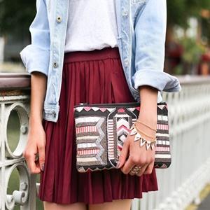 女装でスカート